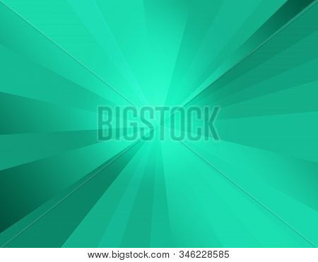Gradient Blue And Green Tones Color Radial Palette. Colorful Light Blue, Azure And Dark Turquoise Sh