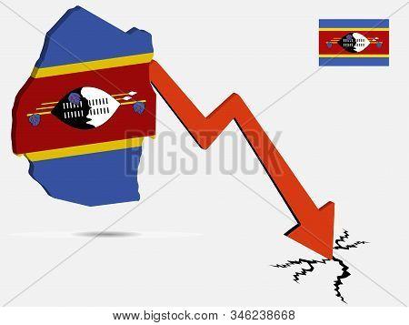 Swaziland Kingdom Of Eswatini Economic Crisis Vector Illustration Eps 10.
