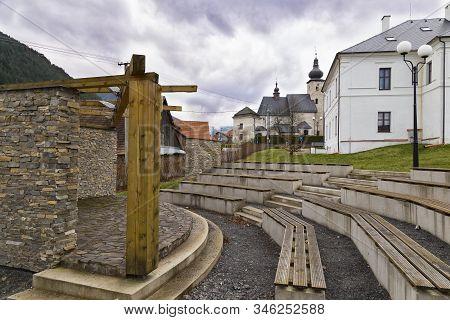 Tourist Information Center In Historical Center Of Liptovsky Jan ( Liptovský Ján ) Village In Low Ta