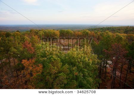 ozarks forest in fall