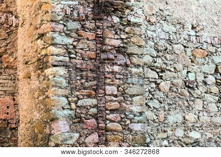 A Cracked Plaster Wall In An Old House