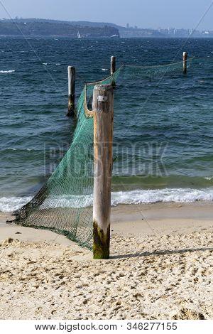 Shark Nets Protecting Local Beach In Sydney
