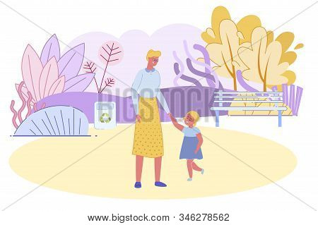 Happy Grandmother Spend Time With Little Granddaughter In Summer City Park. Senior Woman And Little
