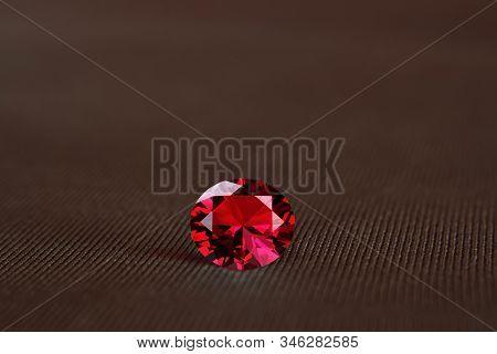 Gemstone Chosen Separated Into Beautiful Red.  Shiny, Beautiful