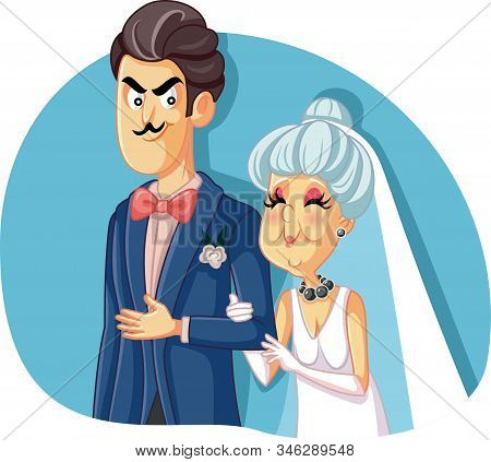 Young Groom Marrying Older Woman For Money