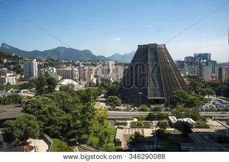 Rio De Janeiro, Brazil, April,05, 2017 - Metropolitan Cathedral Of The City Of Rio De Janeiro