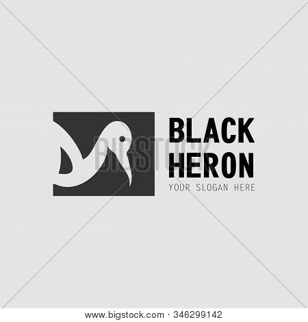 The Design Of Heron Which Only Looks Head And Body