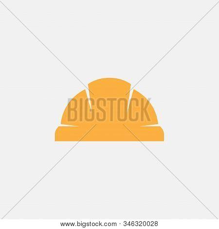 Safety Helmet Flat Icon, Hard Hat Construction Icon, Construction Icon