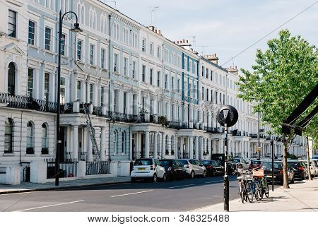 London, Uk - May 15, 2019: Luxury English Victorian Houses In Notting Hill, A District In West Londo