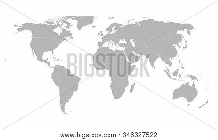 Brunei Darussalam Country Highlighted On World Map. Gray Background. Business Concepts, Backgrounds,