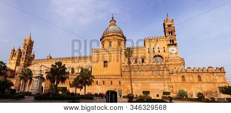 Palermo, Italy - December, 19: Cathedral Church Of Palermo Dedicated To The Assumption Of The Virgin