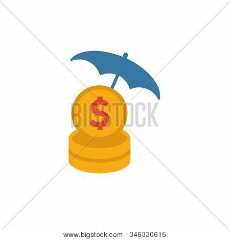 Funds Protection Icon. Flat Creative Element From Business Ethics Icons Collection. Colored Funds Pr