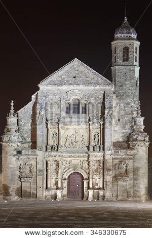 Ubeda Unesco World Heritage. El Salvador Sacred Chapel. Jaen, Spain
