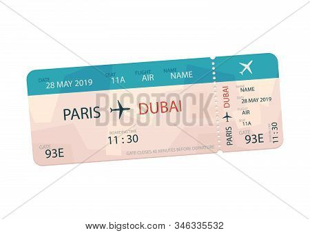 Variant Of Air Ticket Isolated On White Background Vector