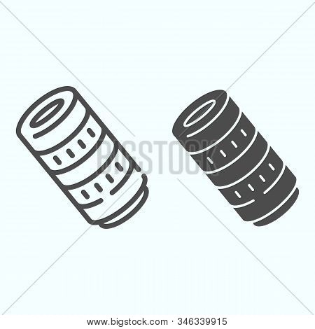 Professional Camera Lens Line And Solid Icon. Camera Objective Vector Illustration Isolated On White