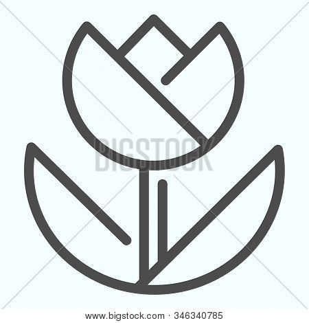 Macro Line Icon. Macro Photography Vector Illustration Isolated On White. Flower In Macro Outline St