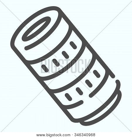 Professional Camera Lens Line Icon. Camera Objective Vector Illustration Isolated On White. Professi