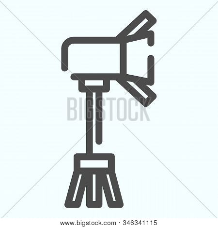 Spotlight Line Icon. Lamp To Power Light For Photography Vector Illustration Isolated On White. Floo