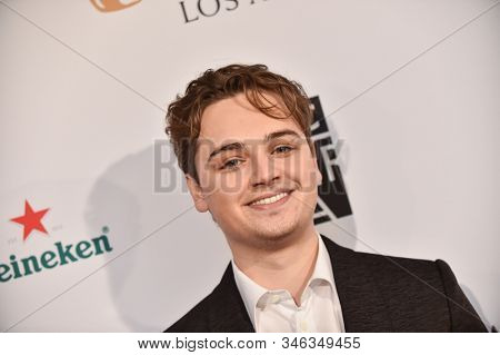 LOS ANGELES - JAN 04:  Dean-Charles Chapman arrives for the  BAFTA Los Angeles Tea Party 2020 on January 04, 2020 in Los Angeles, CA