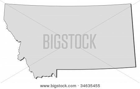 Karta i Montana (Sverige)