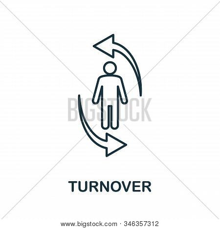 Turnover Line Icon. Thin Style Element From Business Administration Collection. Simple Turnover Icon