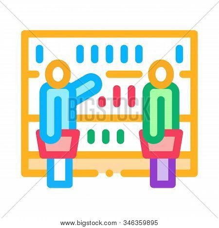 Customers Counter Icon Vector. Outline Customers Counter Sign. Isolated Contour Symbol Illustration
