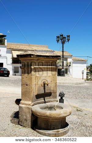 Ubeda, Spain - July 28, 2008 - Drinking Fountain In The Plaza Santa Lucia, Ubeda, Andalucia, Spain -