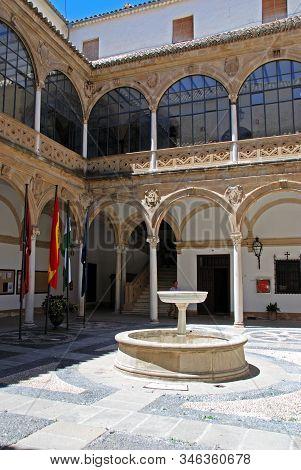 Ubeda, Spain - July 28, 2008 - Inner Courtyard Of The Town Hall Housed In The Palacio De Las Cadenas