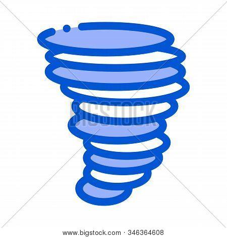 Tornado Hurricane Icon Vector. Outline Tornado Hurricane Sign. Isolated Contour Symbol Illustration