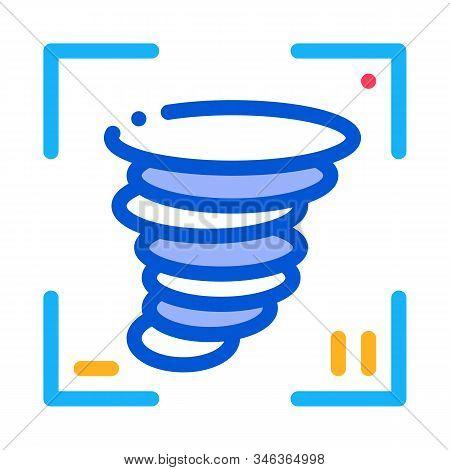 Video Tornado Icon Vector. Outline Video Tornado Sign. Isolated Contour Symbol Illustration