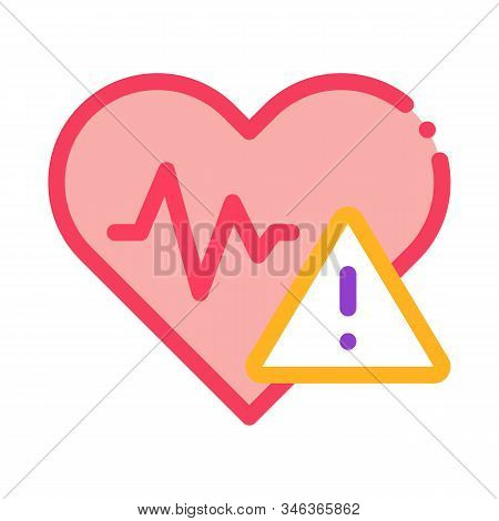 Heart Disease Icon Vector. Outline Heart Disease Sign. Isolated Contour Symbol Illustration