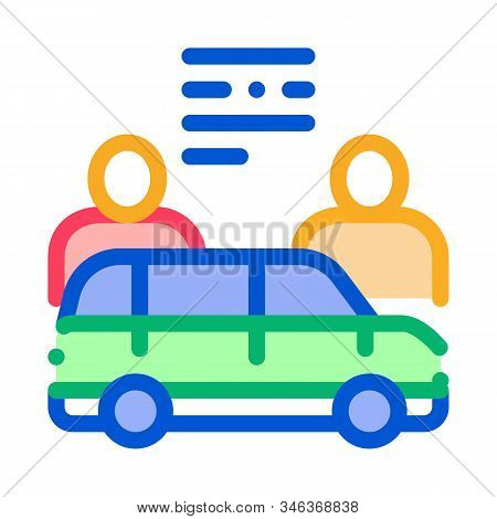 Car Dealer Buyer Icon Vector. Outline Car Dealer Buyer Sign. Isolated Contour Symbol Illustration