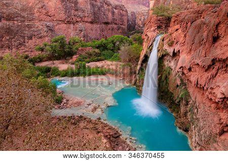 Havasu Falls, Waterfalls In The Grand Canyon, Arizona, Usa