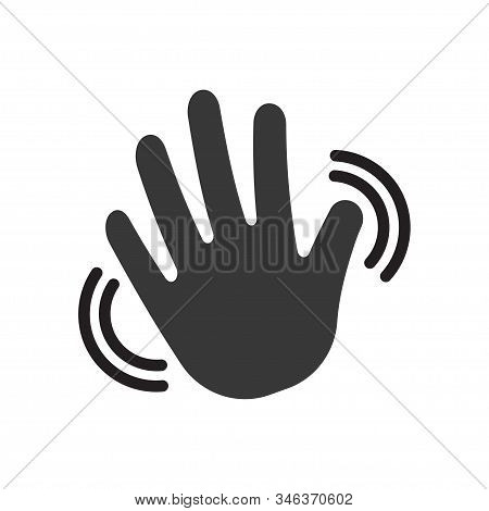 Hand Waving Icon. Greeting Sign. Hello Symbol. Gesture Vector Illustration