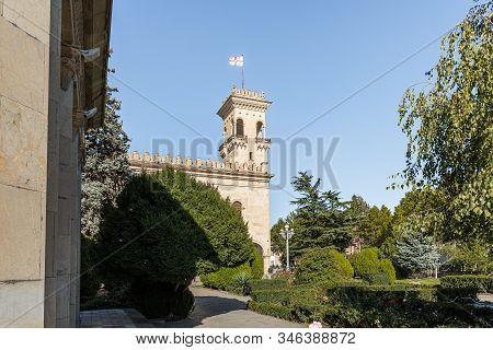 Gori, Georgia, October 13, 2019 : View Of The Building Of The Stalin Museum In Gori In Georgia