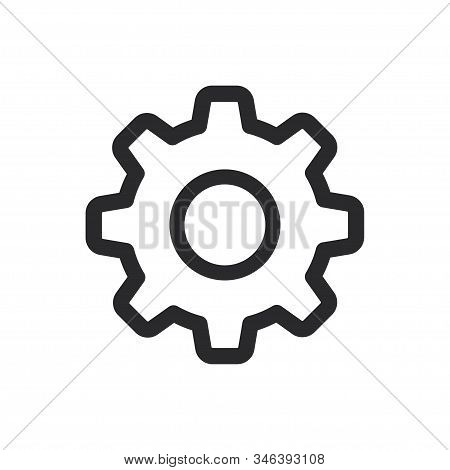 Settings Icon Isolated On White Background. Settings Icon In Trendy Design Style For Web Site And Mo