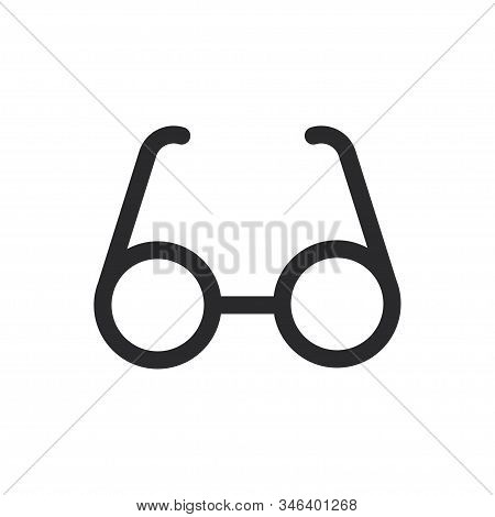 Glasses Icon Isolated On White Background. Glasses Icon In Trendy Design Style For Web Site And Mobi