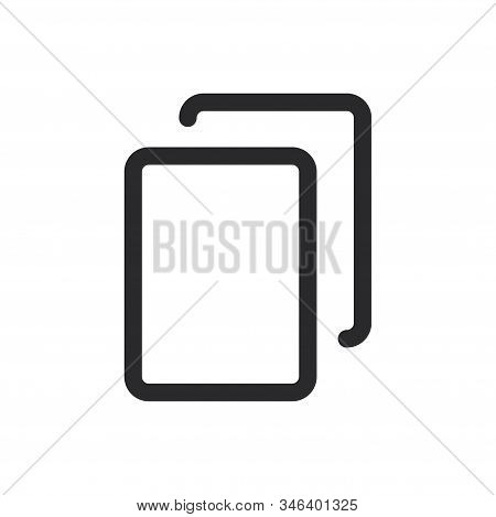 Copy Icon Isolated On White Background. Copy Icon In Trendy Design Style For Web Site And Mobile App