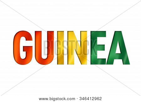 Guinean Flag Text Font. Guinea Symbol Background