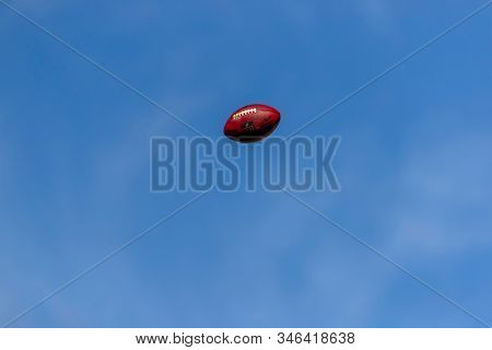 November 25, 2018 - A football flies through the air as the Carolina Panthers play host to the visiting Seattle Seahawks at Bank Of America Stadium in Charlotte, NC.