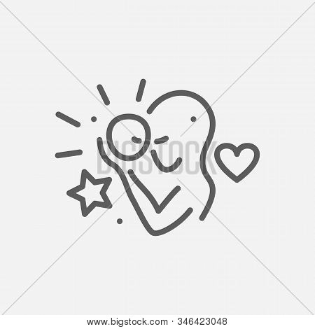 Mothers Day Icon Line Symbol. Isolated Vector Illustration Of Icon Sign Concept For Your Web Site Mo