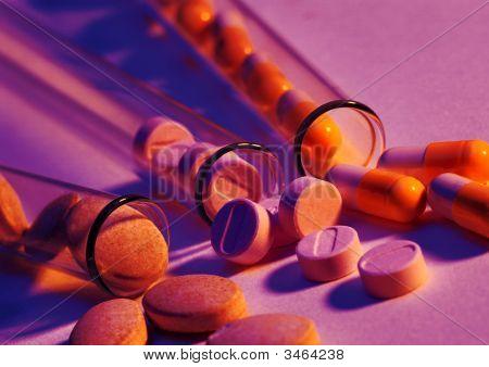 Medicine In Glass Bottles