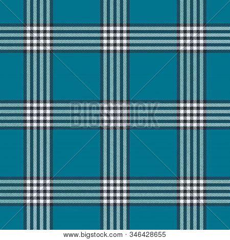 Mosaic Blue Tartan  Plaid  Seamless Pattern. Flannel  Shirt Tartan Patterns. Trendy Tiles Vector Ill