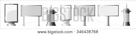 Billboard Flat Set Of Different Perspectives Advertising Construction For Outdoor Advertising Big Bi