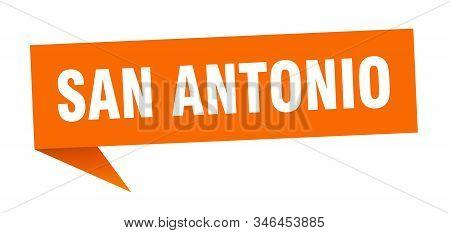 San Antonio Sticker. Orange San Antonio Signpost Pointer Sign