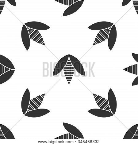Grey Bee Icon Isolated Seamless Pattern On White Background. Sweet Natural Food. Honeybee Or Apis Wi
