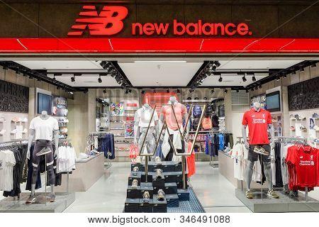 Bangkok-thailand 11 May 2018: New Balance (nb) Shop In Central World Shopping Center, New Balance Is