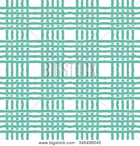 Indigo Brush Navy Vector Seamless Pattern. Indigo Fashion Line American Texture. Drawn American Illu