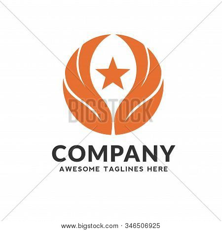 Creative Vector Wings And Star Logo, Wing Logo Company, Icon Wing Flying, Eagle Wing Brand Illustrat