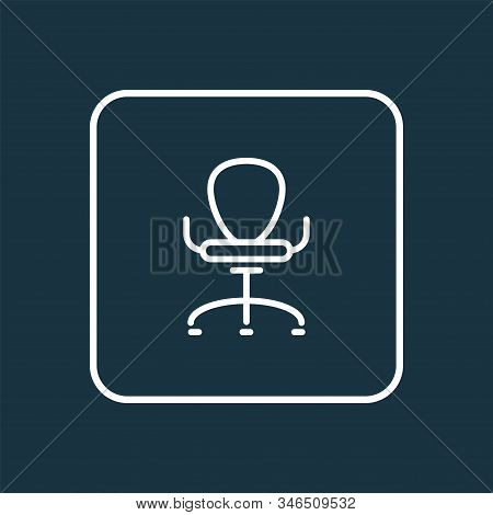 Ergonomic Armchair Icon Line Symbol. Premium Quality Isolated Office Chair Element In Trendy Style.